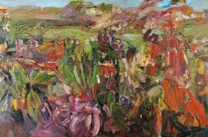 Un jardin - 2004 - Huile sur toile - 180x350 cm