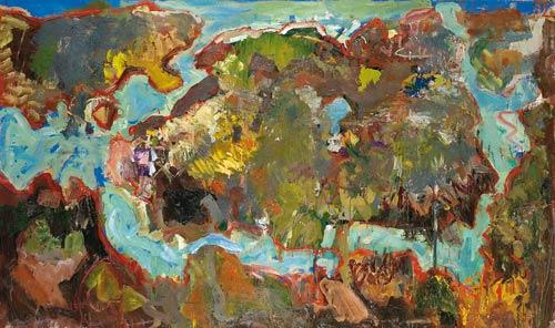 L'île au trésor - 2004 - Huile sur toile - 130x195 cm