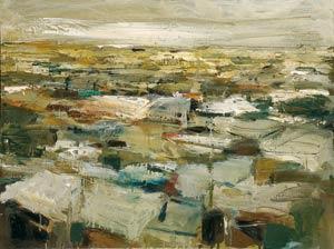 Bidonville - 2000 - Huile sur toile - 55x73 cm